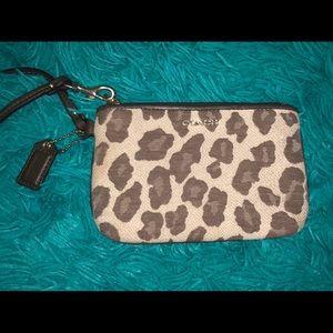 coach leopard wallet